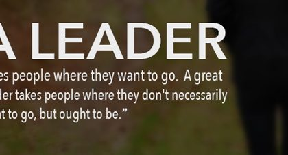WANT TO BE AN OUTSTANDING LEADER?